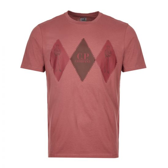 CP Company T-Shirt MTS210A 005100W 583 Dusty Pink
