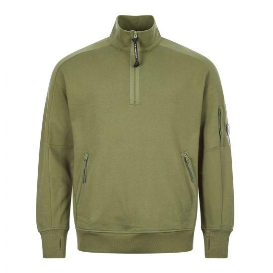cp company sweatshirt zip MSS010A 005160W 660 khaki green