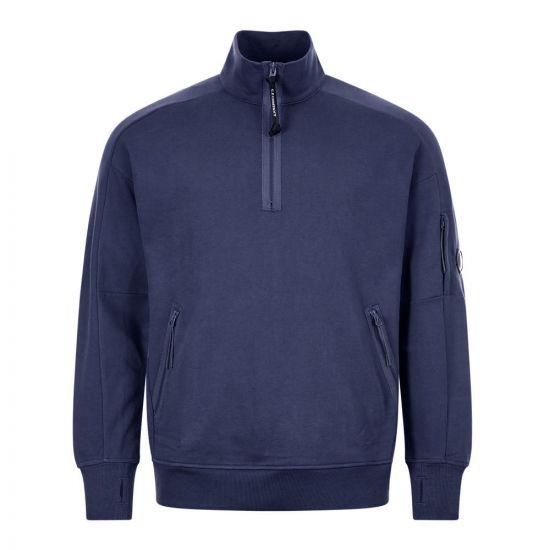 cp company sweatshirt zip MSS010A 005160W 888 navy