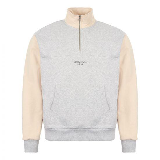 Drôle de Monsieur Half Zip Sweatshirt - Grey  21827CP 0