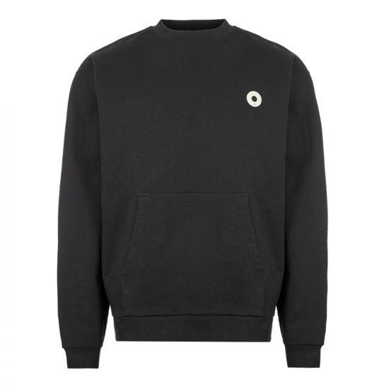 Drôle de Monsieur Sweatshirt Slogan Pocket - Black 21829CP -1