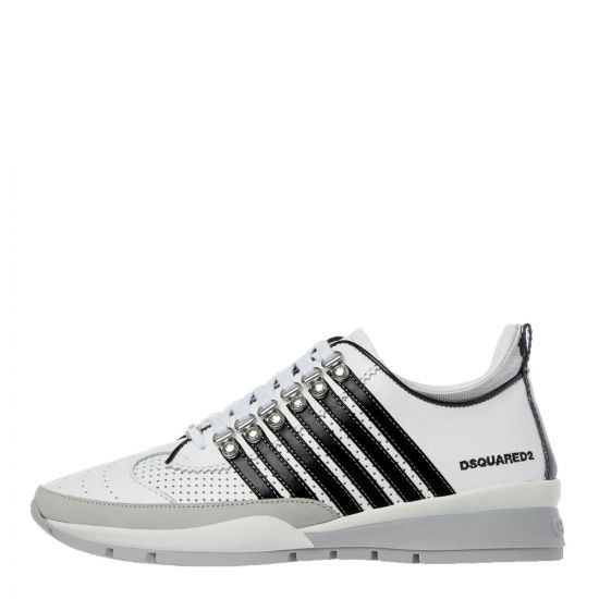 DSquared Trainers | SNM01010 1502721 M072 White / Black | Aphrodite