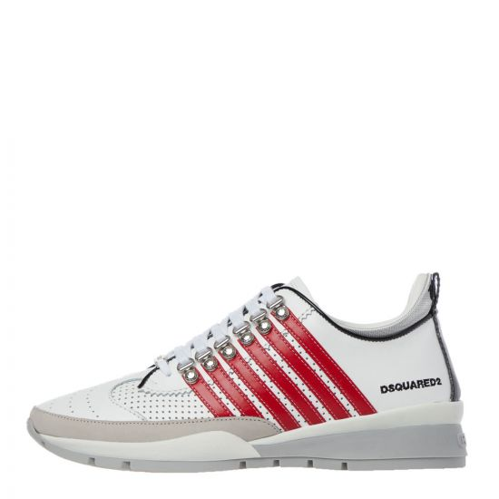 DSquared Trainers | White / Red SNM01010 1502721 M1747 | Aphrodite