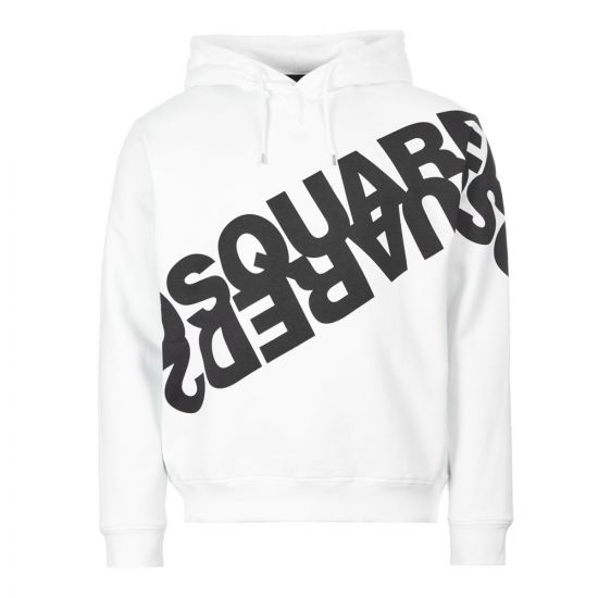 DSquared Hoodie Logo – White 21202CP -1