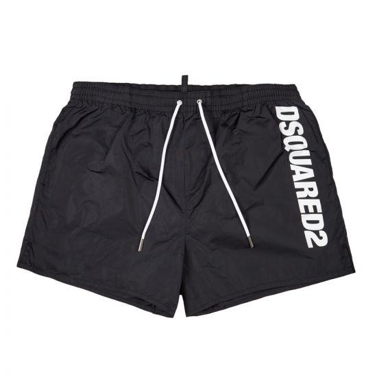 DSquared Swim Shorts Black Logo D7B642420 200