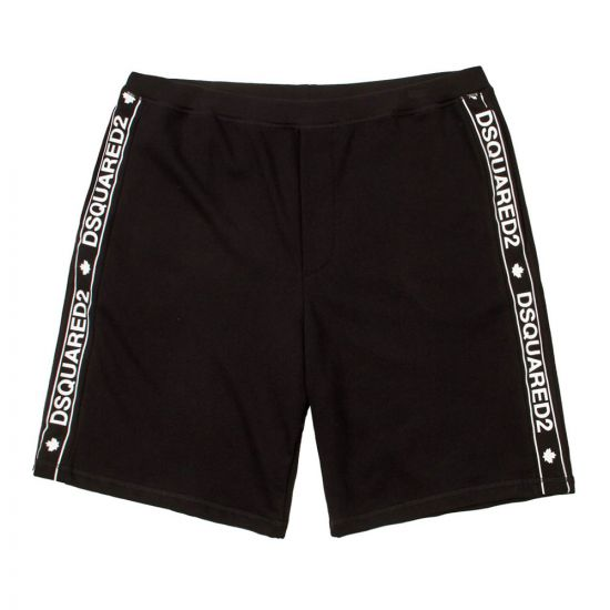 DSquared Shorts D9N582370 200 in Black Tape