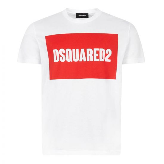 DSquared T-Shirt | S74GD0720 S22427 100 White / Red