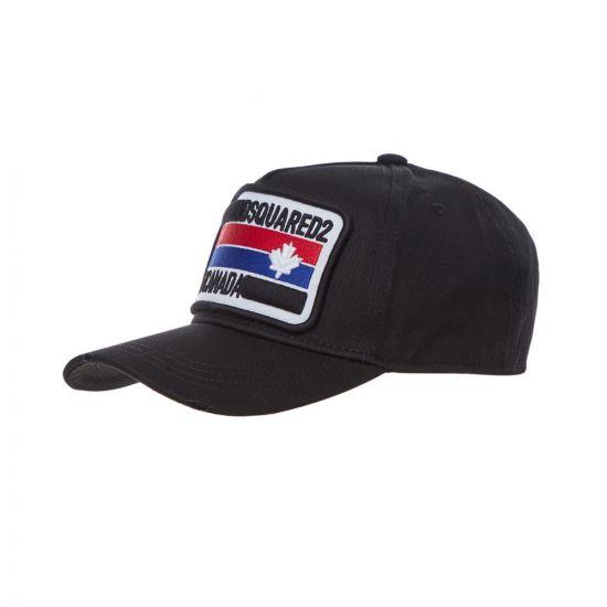 DSquared Cap Logo | BCM024705 C00001 2124 Black Distressed