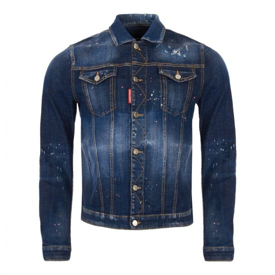 DSquared Denim Jacket S74AM0883 S30342 470 Blue