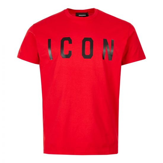 DSquared Icon T-Shirt S74GD0601 S22427 987X Red