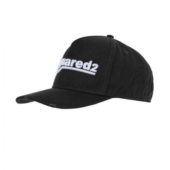 DSquared Embroidered Cap | BCM0361 M063 Black
