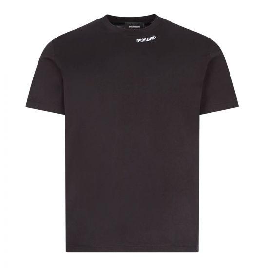 dsquared t-shirt cool fit S74GD0719 S22427 900 black