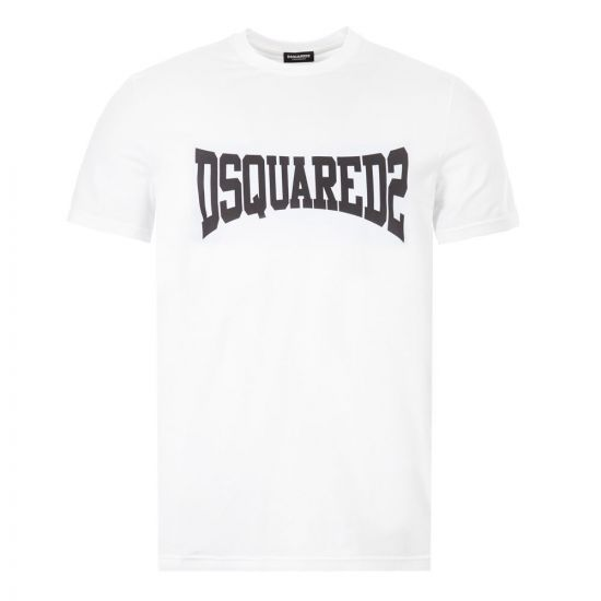 DSquared T-Shirt Logo - White / Black 22096CP -1
