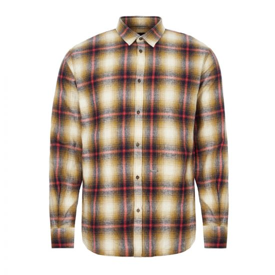 DSquared Check Shirt S71DM0324 S52230 002F Mustard / Red