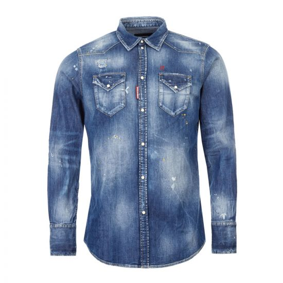 DSquared2 Shirt Denim | S74DM0392 S30341 470 Blue