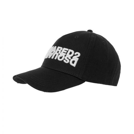 DSquared Cap Mirror Logo – Black 21343CP -1