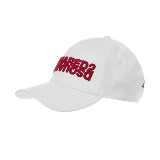 DSquared Cap Mirror Logo – White 21344CP -1
