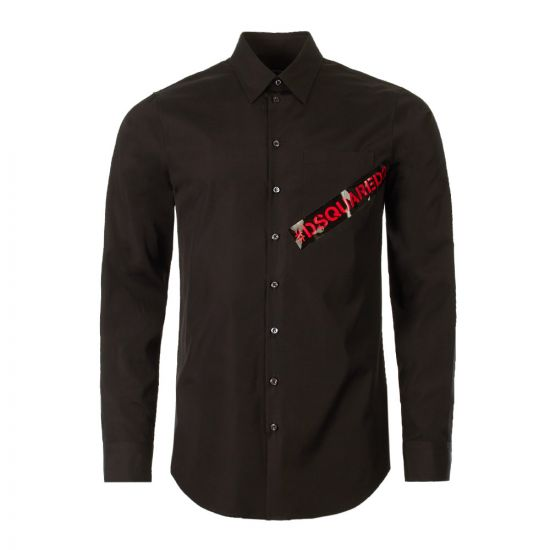 DSquared Shirt | S74DM0231 S36275 900 Black / Red
