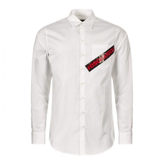 dsquared shirt S74DM0231 S36275 100 white