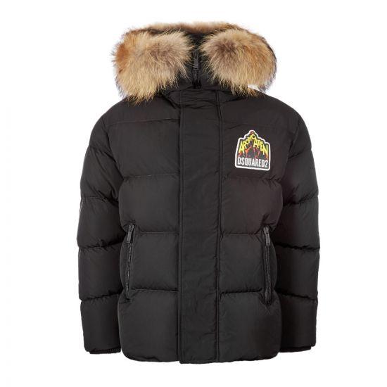 DSquared Traffeta Jacket S71AN0099|S52344|900 Black At Aphrodite Clothing