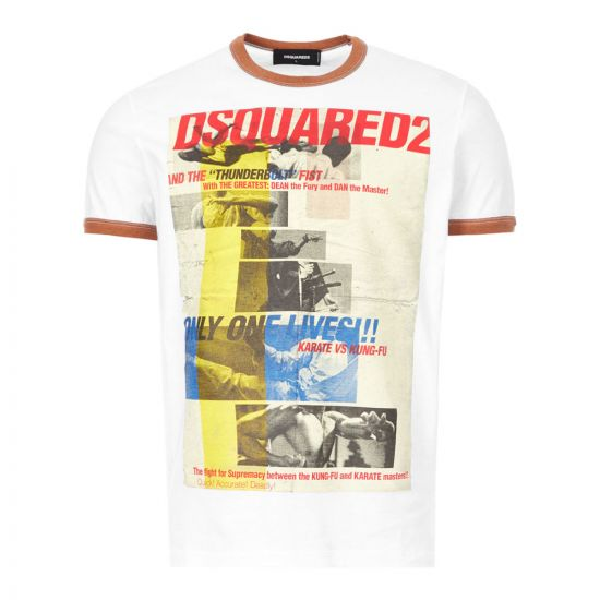 dsquared t-shirt   S71GD0892 S22507 977 white