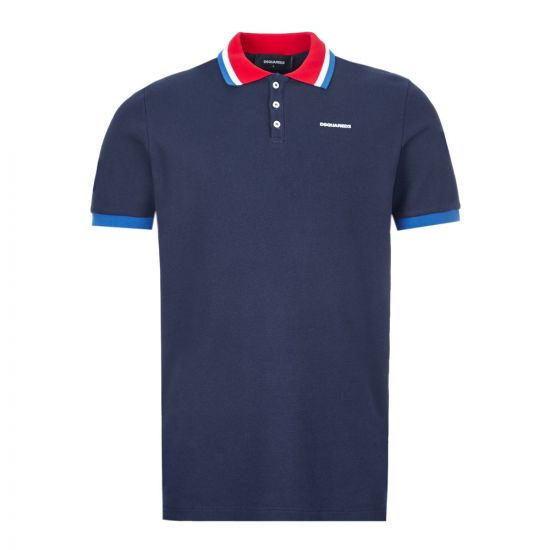 dsquared polo shirt | S71GL0031 S23497 524 navy