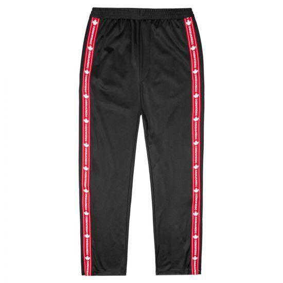 DSquared Sweatpants Side Logo |S74KB0476 S23686 900 Black | Aphrodite