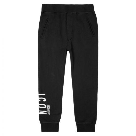 DSquared Sweatpants Logo | SK79KA0004 S25042 900 Black | Aphrodite