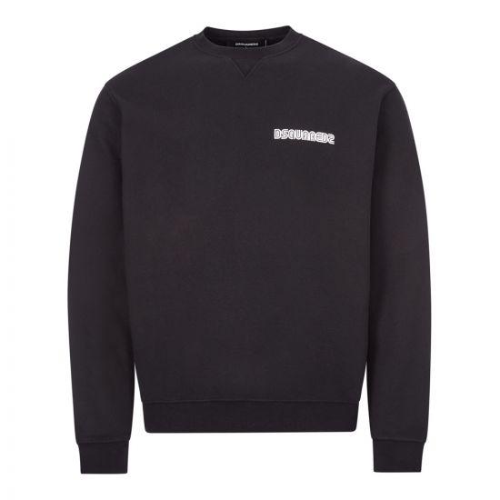 dsquared sweatshirt logo S71GU0374 S23497 900 black