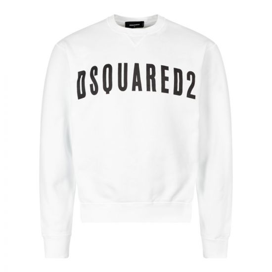 DSquared Sweatshirt S74GU0357 S25030 100 White / Black