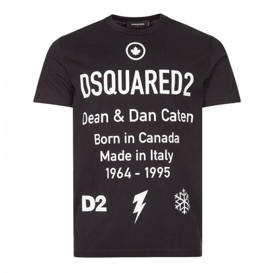 DSquared T-Shirt Logo | S74GD0746 S23009 900 Black / White