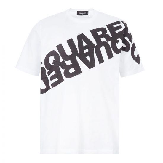 DSquared T-Shirt Logo - White / Black 22098CP -1