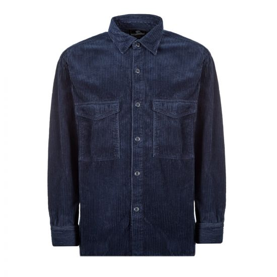 Edwin Corduroy Shirt I027256 DRB GD Navy