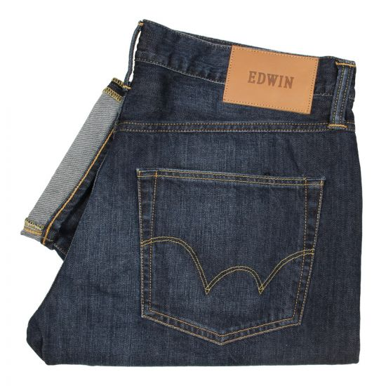 Edwin ED 55 Jeans in Kingston Blue Mid Coal IO25197 F8 CX