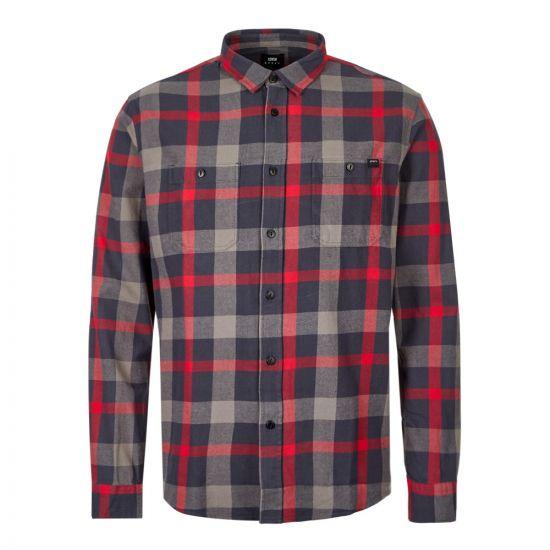 Edwin Labour Shirt IO27376 EBN 67 03 Ebony / Red