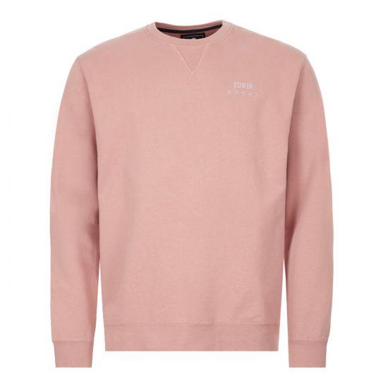 edwin sweatshirt   I025854 WDR 67 03 pink