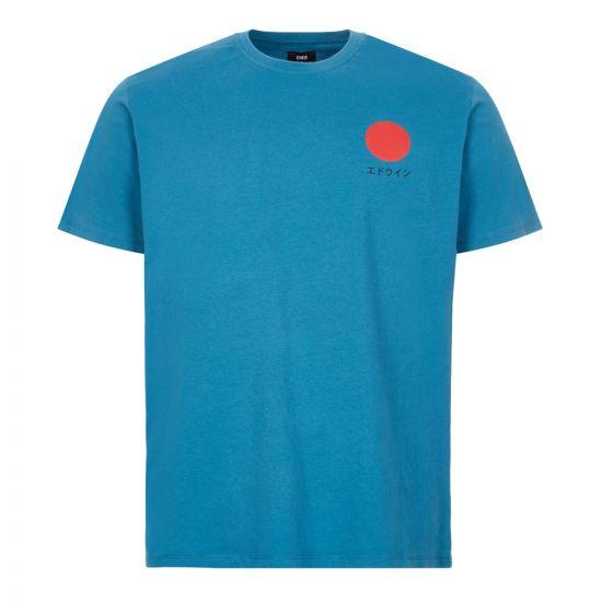 edwin t-shirt japanese sun logo | I025020 SXN 67 03 blue