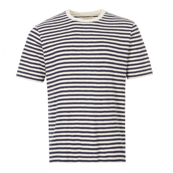 Folk T-Shirt | CI24J Ecru / Navy