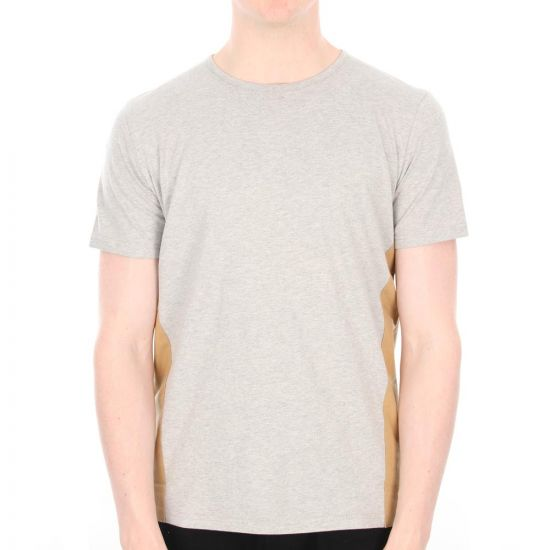 Folk Panel T-Shirt in Grey