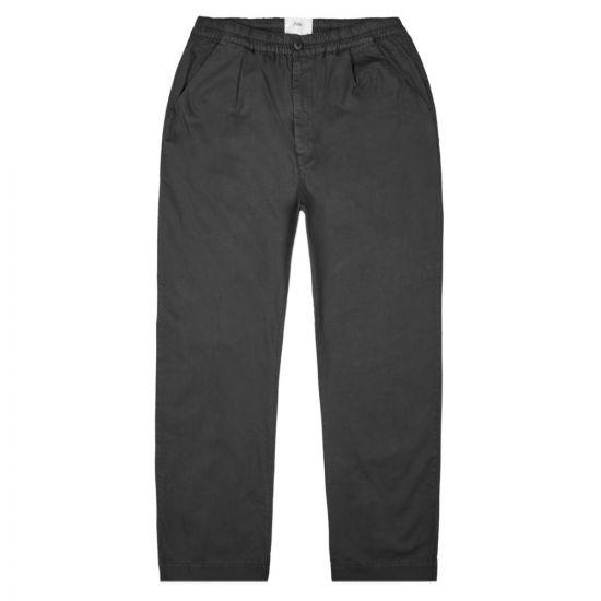 folk loom trousers FM5424W BLACK black