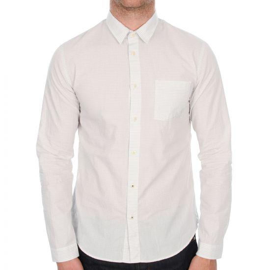 Folk Tri Pocket Shirt in Charcoal Navy Mini Dot
