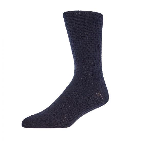Waffle Socks - Navy