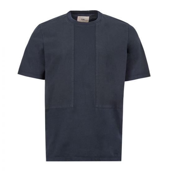 Folk T-Shirt Overlay - Navy 21692CP -1