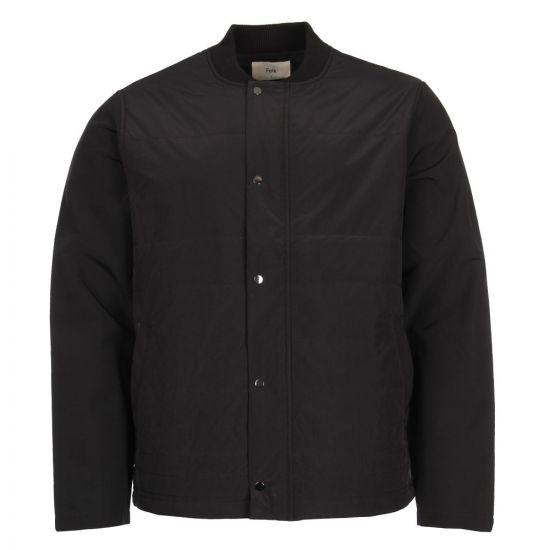 Folk Wadded Contour Jacket FM5009W BLACK In Black