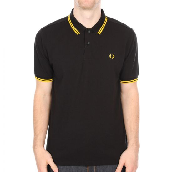 Fred Perry Twin Tipped Polo in Black