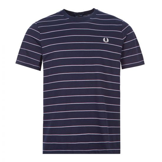 Fred Perry T-Shirt Stripe   M8532 608 Navy   Aphordite1994
