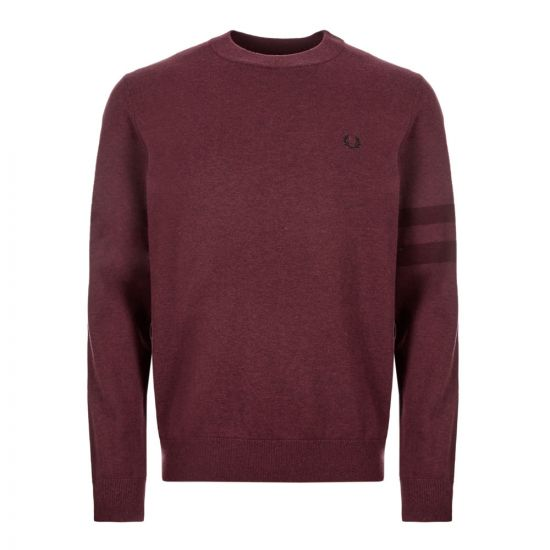 fred perry knitted sweatshirt K7505 163 mahogany marl