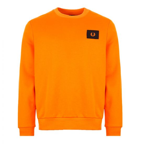 Fred Perry Sweatshirt Acid Brights M7577 666 Tangerine