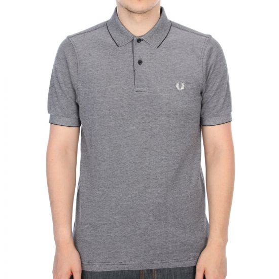 Fred Perry Slim Fit Oxford Polo Shirt in Grey