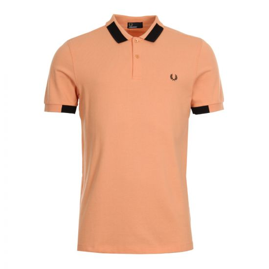 Fred Perry Block Tipped Polo Shirt M4525-G05 Apricot